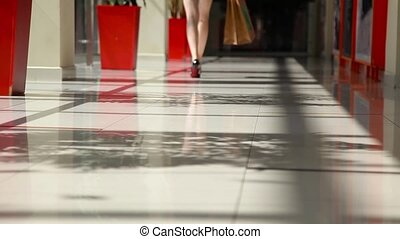 Girl in a shopping mall