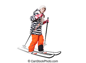 girl in a ski suit