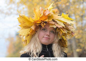 girl in a wreath
