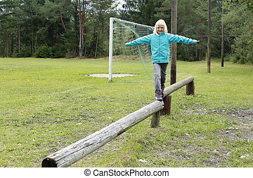 girl in balance
