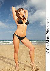 Girl in Black Bikini