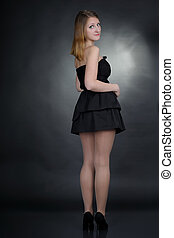 Girl in black dress