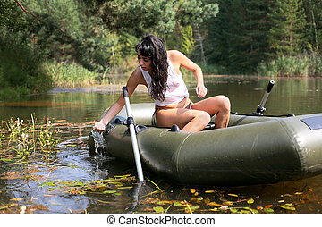 girl in boat