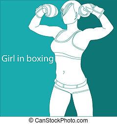 Girl in boxing