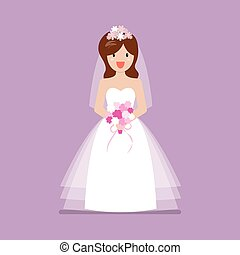 Girl in bride dress
