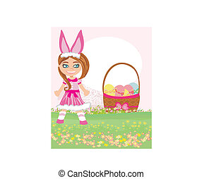 girl in bunny costume