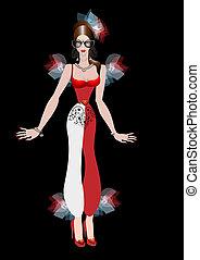 Girl in carnival costume
