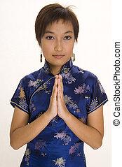 Girl In Cheong Sam 1