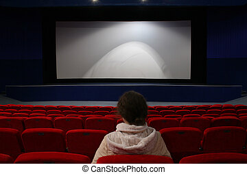 girl in cinema