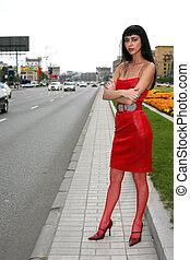 girl in city