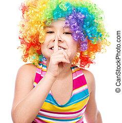 Girl in clown
