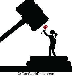 Girl in court