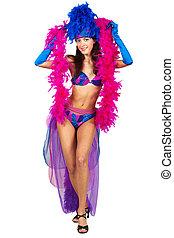 girl in dance costume