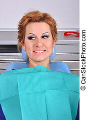 girl in dental chair