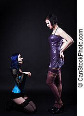 Girl in dog role play fetish games - Girl in dog slave role...