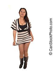 Girl in dress.