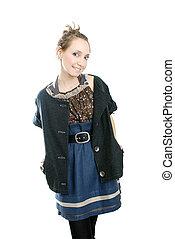girl in ethnic style