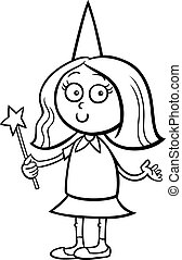 girl in fairy costume coloring page