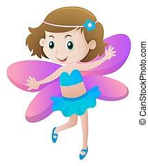 Girl in fairy costume