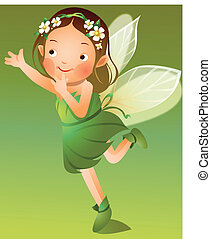 Girl in fairy dress