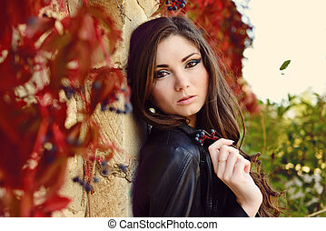 girl in fall