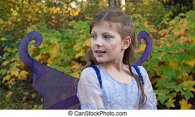 Girl in Ferry Princess Costume