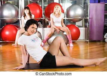 Girl in fitness center