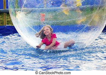 Girl in Floating Ball