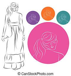 Girl In Flowing Summer Dress