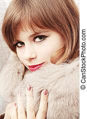 girl in fur