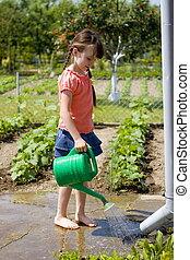 girl in garden - fun in garden