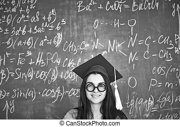 Simple Graduation Cap Black Adorable Dog - girl-in-graduation-hat-black-and-white-image-of-student-in-graduation-hat-and-eyeglasses-looking-at-stock-photos_csp14526237  2018_496426  .jpg