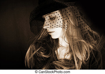 girl in hat