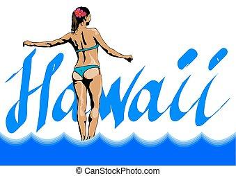 Girl in Hawaii one