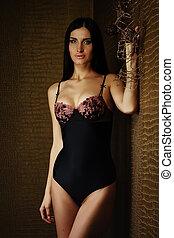 girl in lingerie