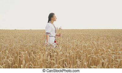 girl in national Ukrainian costume - girl in a national...