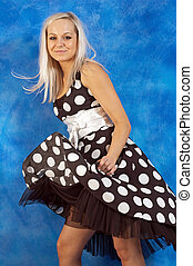 Girl in polka-dot dress