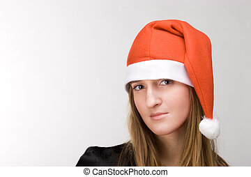 Girl in red cap