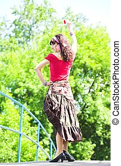 girl in red dance