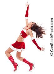 girl in santa costume