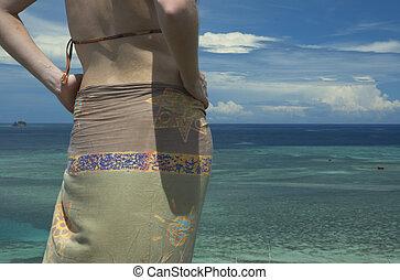 girl in sarong