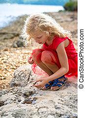 girl in seashore