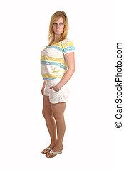 Girl in shorts.