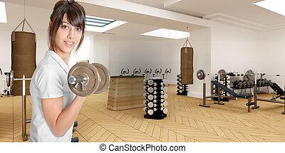 Girl in sports club
