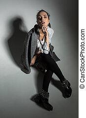 Girl in studio