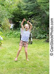 girl in summer
