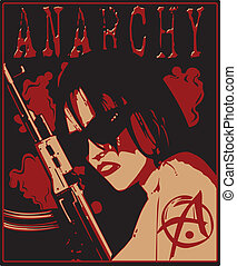 girl in sunglasses with shotgun