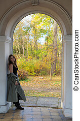 girl in the arch