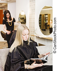 Girl in the Beauty Spa
