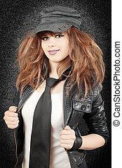 girl in the cap